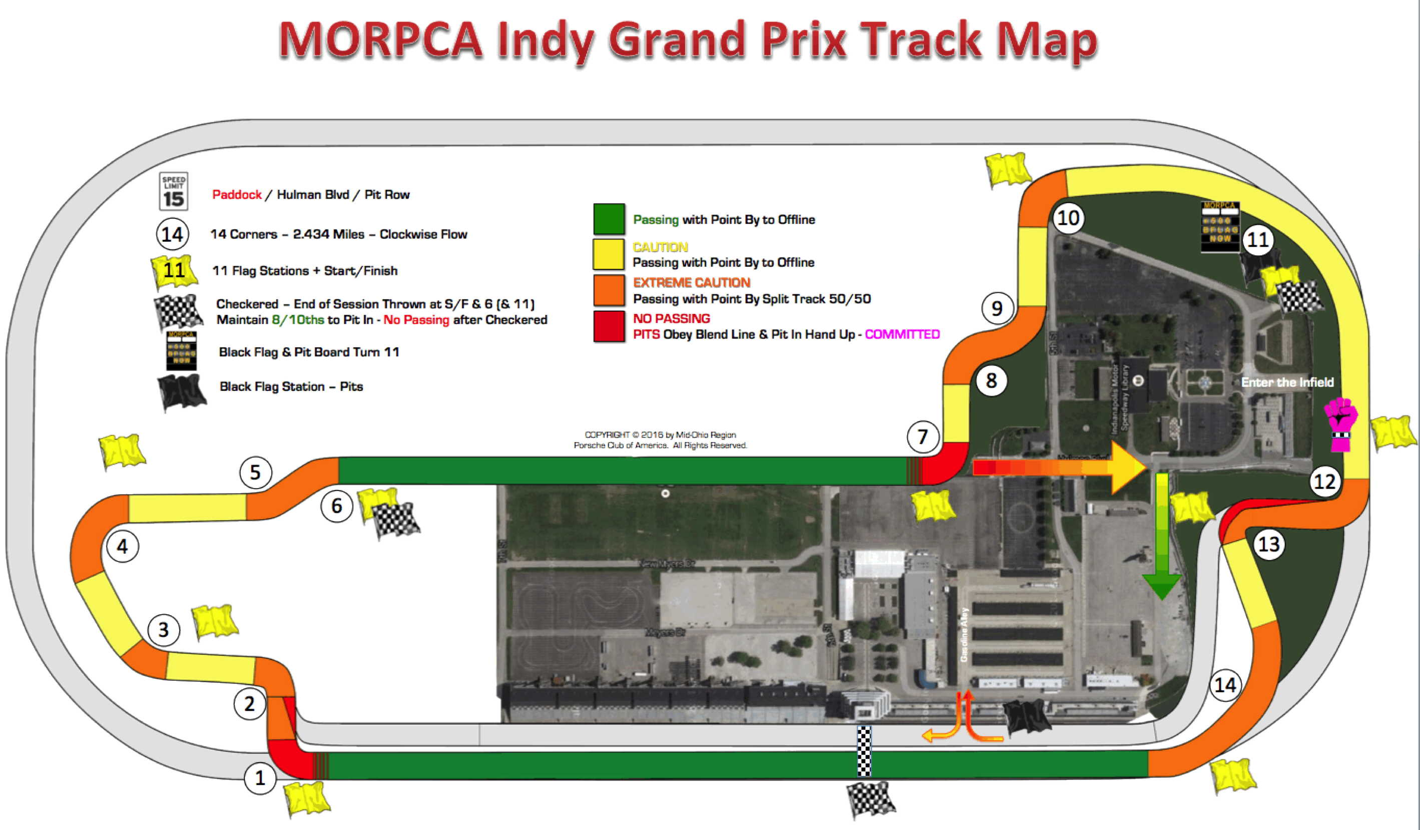 Indy Road Course HPDE Map
